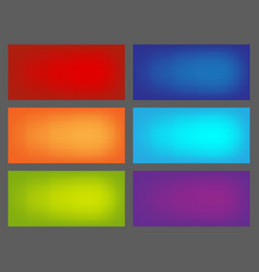 set colored backgrounds for euroflayer format vector image