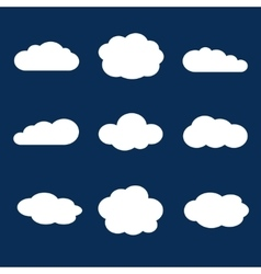 Set of clouds in the blue sky vector