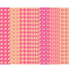 Set of simple seamless pattern 4 vector image