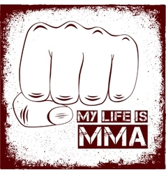sign MMA vector image