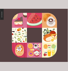 simple things - meal vector image