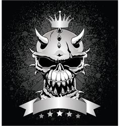 skull emblem vector image