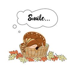 smiling deer animal set vector image