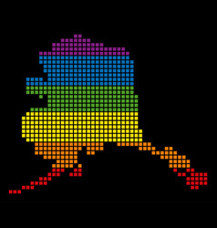 Spectrum pixel lgbt alaska map vector