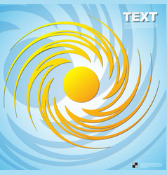 Summer yellow with circle pattern background vector