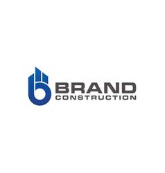 Symbol letter b brand logo real estate vector