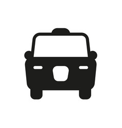 taxi icon on white background vector image