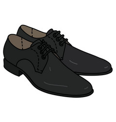 the black mens shoes vector image