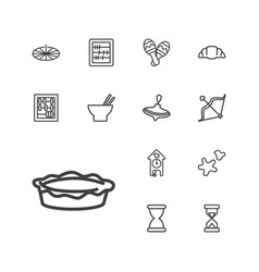 Traditional icons vector