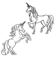 unicorn isolated on white background design vector image