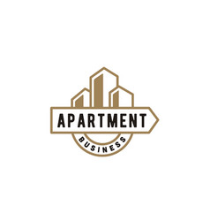 urban city apartment building real estate logo vector image
