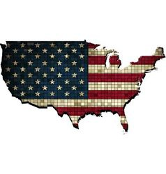 USA map in grunge vector