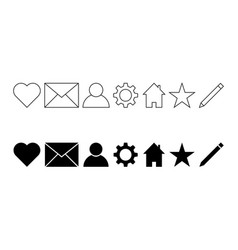 user interface icon set vector image