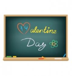 Valentine's chalk vector image