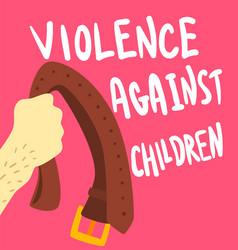 violence against children poster banner template vector image