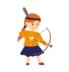 a girl with bow vector image