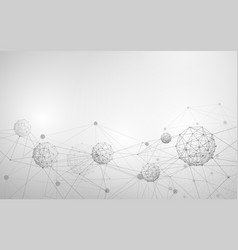 abstract molecule and atom structure white vector image