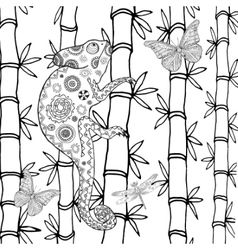 Chameleon coloring page vector image vector image