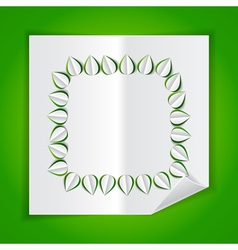 frame leaves paper vector image vector image