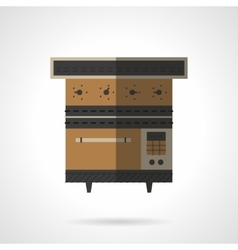Stove flat color icon vector image vector image