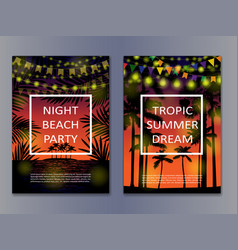 tropic posters mock up vector image vector image