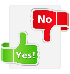 Yes and No Signs vector image vector image