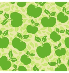 apples with leaves vector image