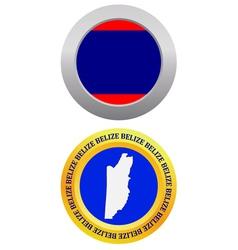 Button as a symbol belize vector