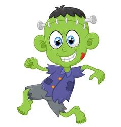 Cartoon Frankenstein kid vector image