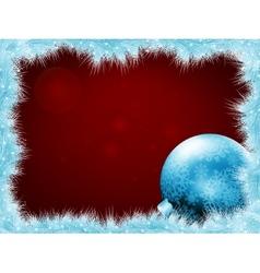 Christmas balls at the xmas glow background EPS 8 vector image vector image