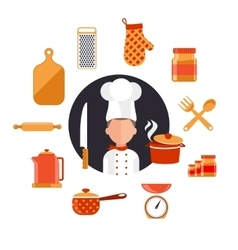 Cooking Serve Meals and Food Preparation vector image