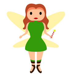 cute fairy icon vector image