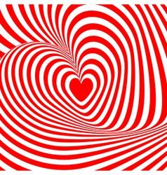 Design heart swirl rotation background vector image