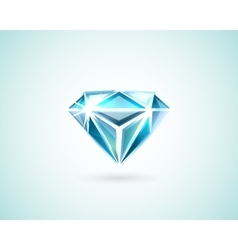 Diamond on white vector image