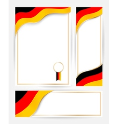 Germany flag banners set vector image vector image