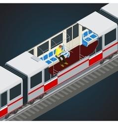 Interior view of a subway car Train Subway vector image vector image