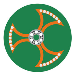 orange spinner with transparent center vector image vector image