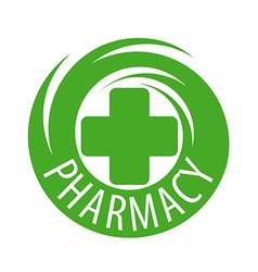 Round abstract logo for pharmaceutical companies vector image vector image