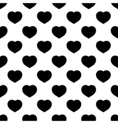seamless pattern heart vector image