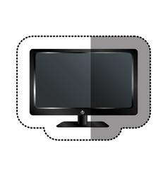 smart tv modern technology vector image