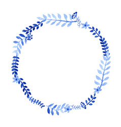 watercolor wreath with branches vector image
