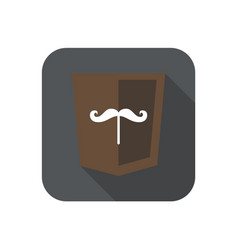 web development shield sign isolated mustache icon vector image vector image