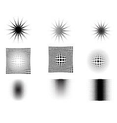 9 circular fades 6 vector