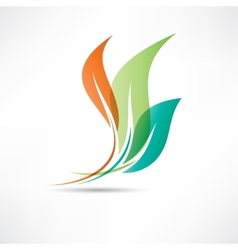 Colored leafs vector image