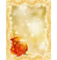 Gold christmas card with copy sace eps 8 vector