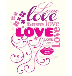 love composition vector image vector image