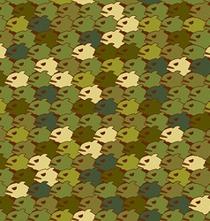 Military texture from Piranha Army seamless vector image