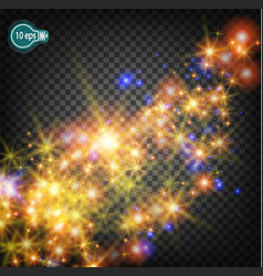 a magical christmas star on the milky way is a vector image