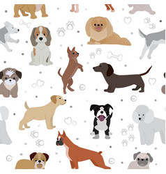 Dog cute cartoon puppy home vector