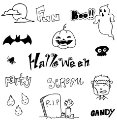 Doodle art halloween holiday vector